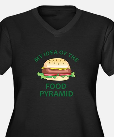 My Idea Of The Food Pyramid Plus Size T-Shirt