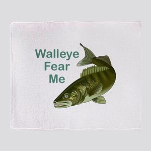 WALLEYE FEAR ME Throw Blanket