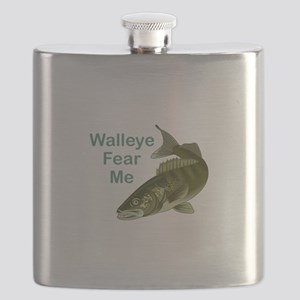 WALLEYE FEAR ME Flask