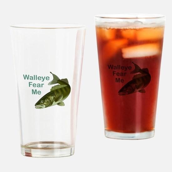 WALLEYE FEAR ME Drinking Glass