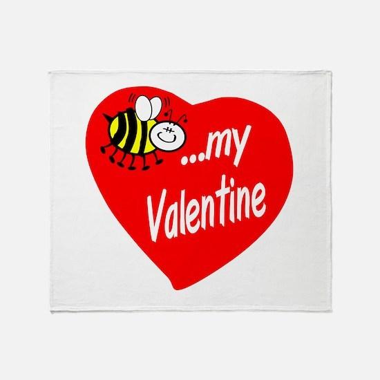 Bee My Valentine Throw Blanket