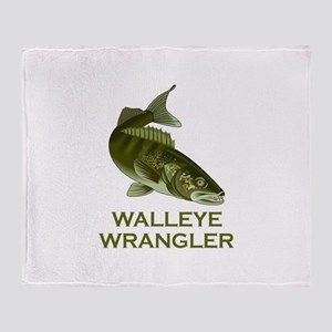 WALLEYE WRANGLER Throw Blanket
