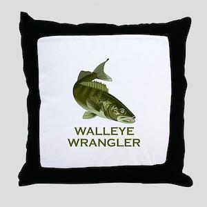 WALLEYE WRANGLER Throw Pillow