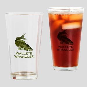 WALLEYE WRANGLER Drinking Glass