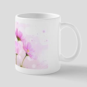 Pink Cosmos Flower Mugs