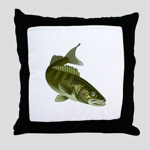WALLEYE Throw Pillow