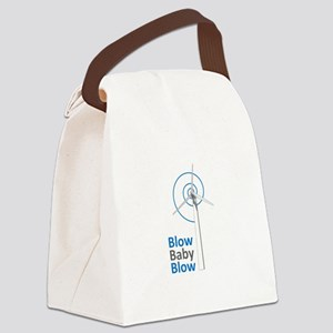 BLOW BABY BLOW Canvas Lunch Bag