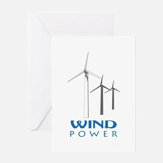 WIND TURBINES Greeting Cards