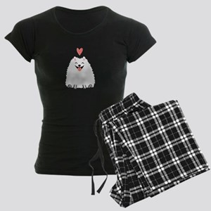 Pomeranian Love Women's Dark Pajamas
