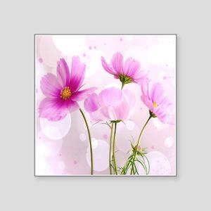 Pink Cosmos Flower Sticker