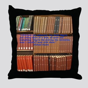 Subversive Librarians Throw Pillow