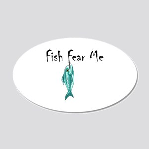 FISH FEAR ME Wall Decal