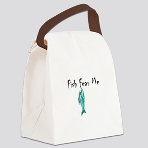 FISH FEAR ME Canvas Lunch Bag
