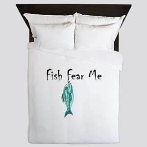 FISH FEAR ME Queen Duvet