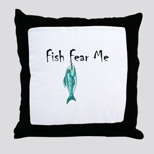 FISH FEAR ME Throw Pillow