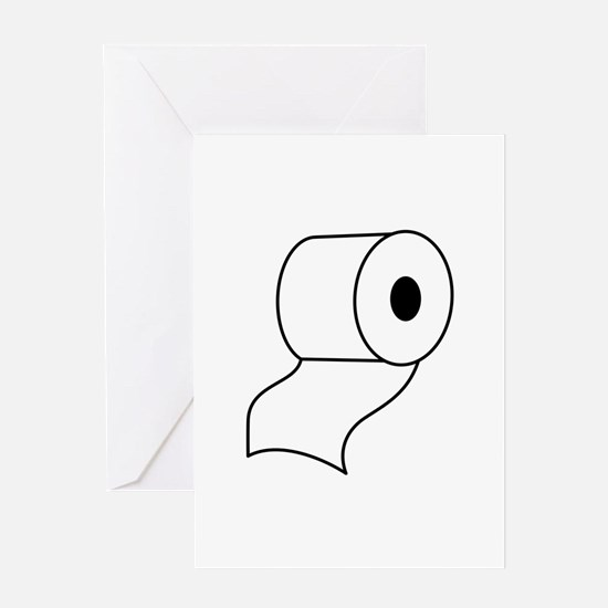 TOILET PAPER Greeting Cards