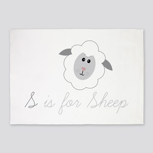 S Is For Sheep 5'x7'Area Rug
