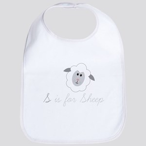 S Is For Sheep Bib