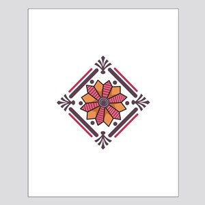 FLORAL QUILT SQUARE Posters