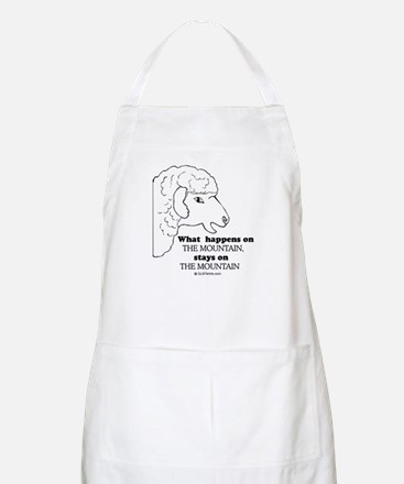 What happens on the mountain BBQ Apron
