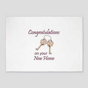 Congratulations On Your New Home 5'x7'Area Rug