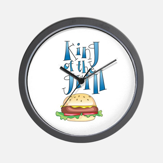 King Of The Grill Burger Wall Clock