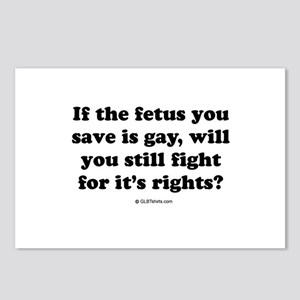 If the fetus you save is gay ... Postcards (Packag