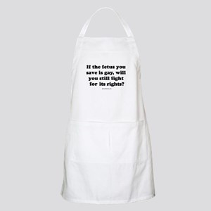 If the fetus you save is gay ... BBQ Apron