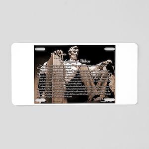 Gettysburg Address Aluminum License Plate