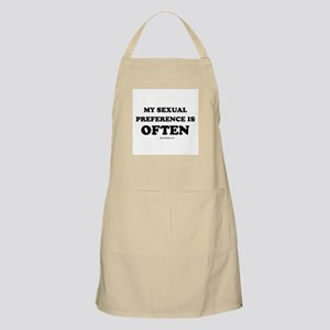 My sexual preference is often BBQ Apron