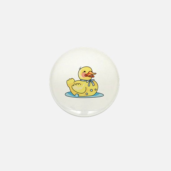 RUBBER DUCK ON WATER Mini Button