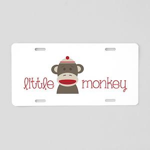 Little Monkey Aluminum License Plate