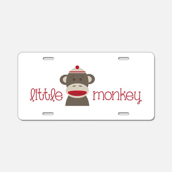 Little Monkey Aluminum License Plate