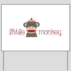 Little Monkey Yard Sign