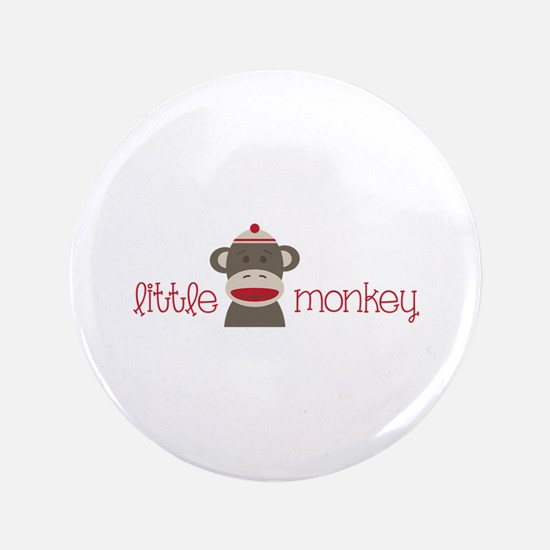 "Little Monkey 3.5"" Button (100 pack)"