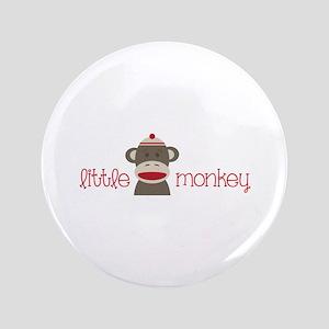 "Little Monkey 3.5"" Button"