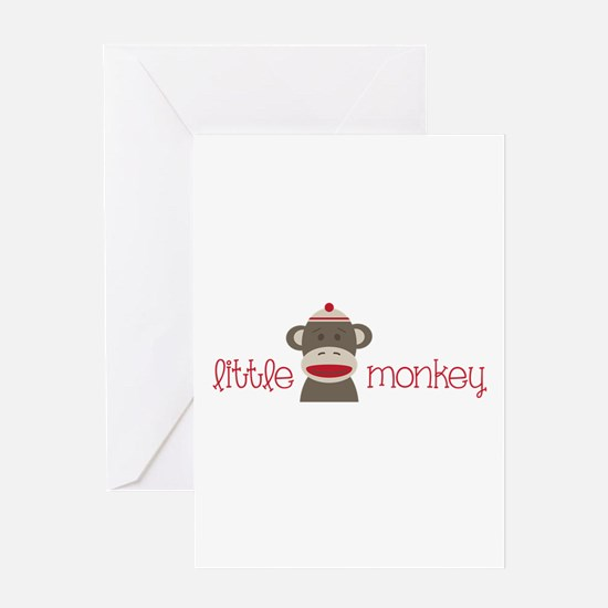 Little Monkey Greeting Cards