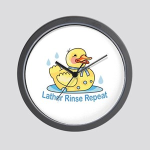 LATHER RINSE REPEAT Wall Clock