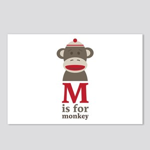 M Is For Monkey Postcards (Package of 8)