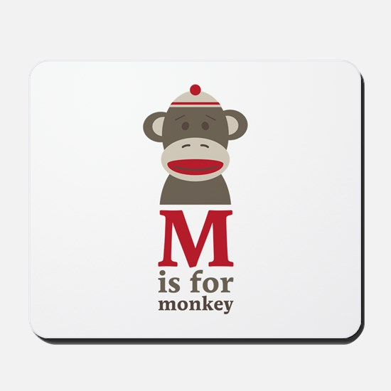 M Is For Monkey Mousepad