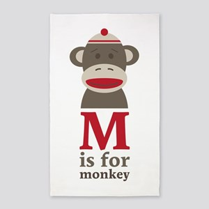 M Is For Monkey Area Rug