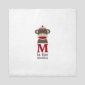 M Is For Monkey Queen Duvet