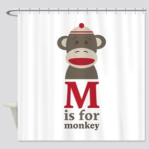 M Is For Monkey Shower Curtain
