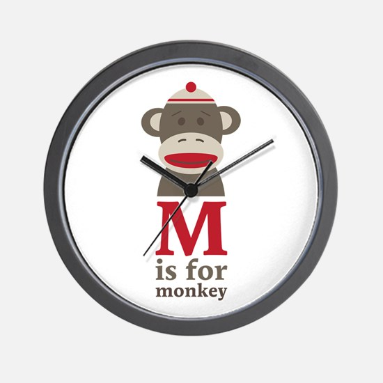 M Is For Monkey Wall Clock