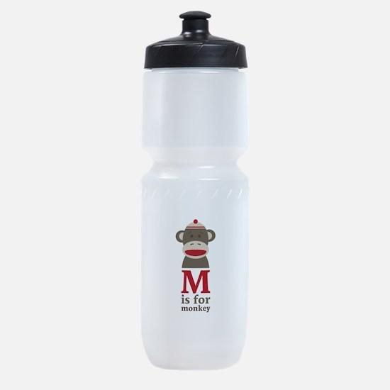 M Is For Monkey Sports Bottle