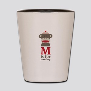 M Is For Monkey Shot Glass