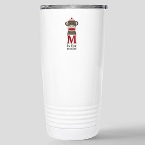 M Is For Monkey Travel Mug