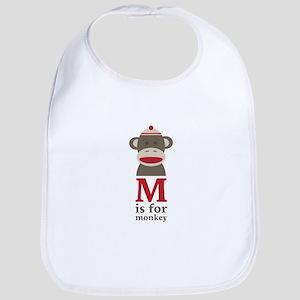 M Is For Monkey Bib
