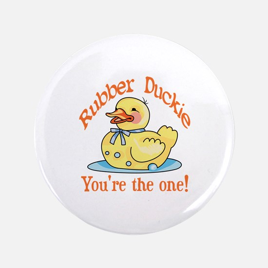 "RUBBER DUCKIE 3.5"" Button"