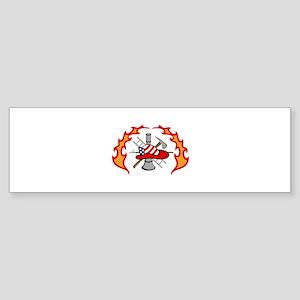 FIREFIGHTERS DESIGN Bumper Sticker